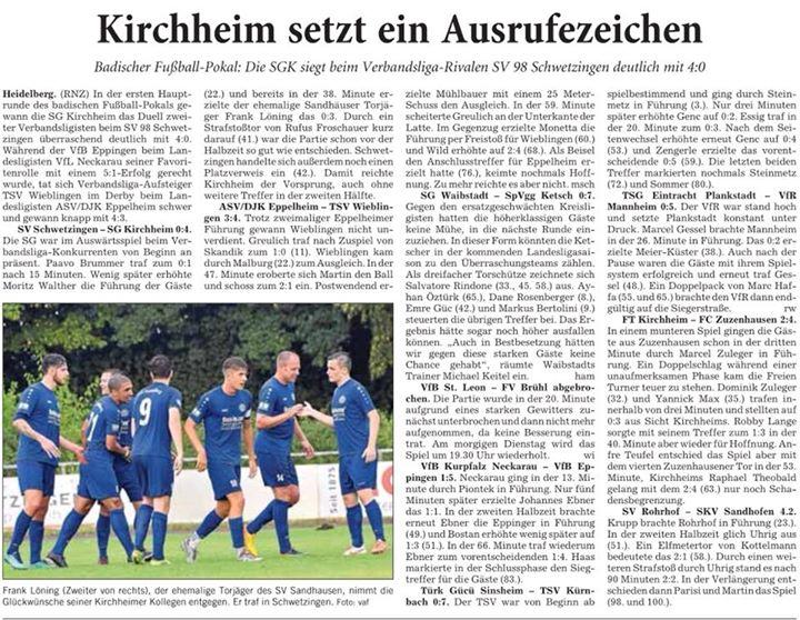 Montag, den 23. Juli 2018 Von unserem Medienpartner der Rhein-Neckar-Zeitung
