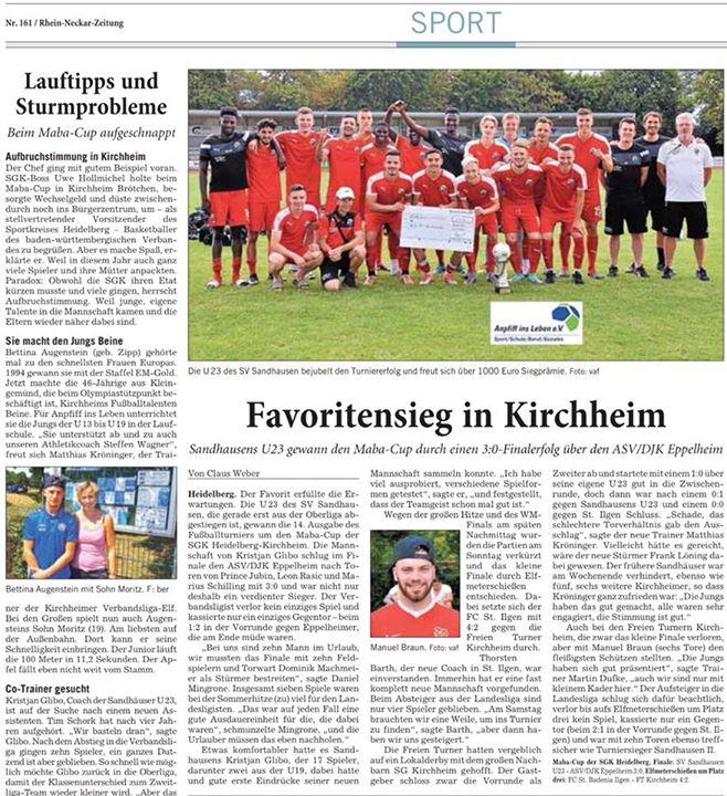 MabaCup 2018 Von unserem Medienpartner der Rhein-Neckar-Zeitung. Sieger des diesjährigen MabaCups wurde der Titelverteidiger…
