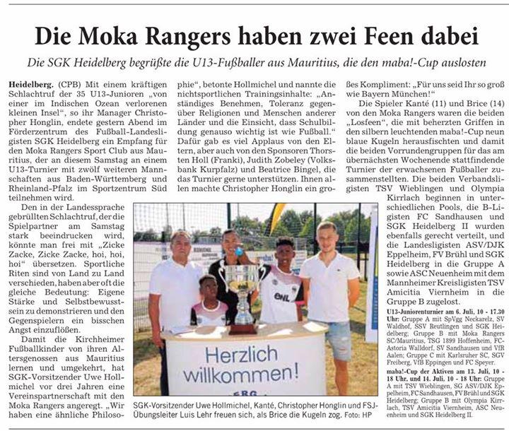 maba! Cup Auslosung bei der SG Heidelberg-Kirchheim mit toller Atmosphäre